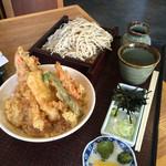 喜久粋 - 料理写真:天丼もりセット中もり+100。
