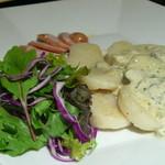 タコリブレ - ホタテのソテー牡蠣ソース