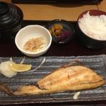 42612869 - 本日の焼き魚御膳(¥850)→ほっけ