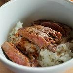 ビューアンドダイニングザスカイ - ステーキ丼(丼系と鉄板焼きが繋がっている)