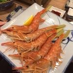 磯丸水産 - 赤海老の串焼き