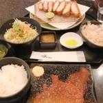 とんかつ マンジェ - 土曜日昼限定メニュー「東京Xとんかつ定食」(160gのみ。)(3,200円込み)(2015年10月)