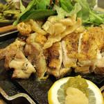 42622475 - 冠地鶏の炭火炙り焼き