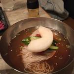 焼肉 かける - 冷麺、すごく本格的で麺もしっかりとしているのにモチモチ!♡