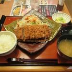 柿ェ門 - 梅しそミルフィーユとんかつ定食。1554円