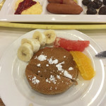万座プリンスホテル - 朝食。そば粉のパンケーキがあったので自分でカフェ風に!