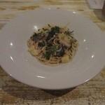 バール・エ・トラットリア・ピュウ - 新サンマとジャガイモ、大葉のペペロンチーノスパゲッティ