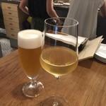 ル コントワ - ☆生ビール&白ぶどうジュース(#^.^#)☆