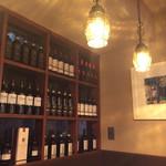42630270 - 様々なワインが壁にビッシリありました。