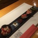 さかな堂 - 前菜盛り合わせ(2015,9)