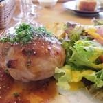 ワイン食堂 ル・プティ・マルシェ - 茨城県産 弓豚ハンバーグ マスタードソース
