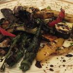 TRATTORIA TRINITA - 季節の野菜の炭火焼(2015年10月)