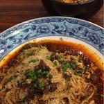 鴻福門 - 汁無し坦々麺&ミニ麻婆丼