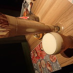 42640934 - お通しの揚げパスタと生ビール