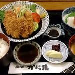 42644468 - かに猿 @中葛西 かきフライ定食 1,500円(税別)