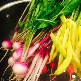食材へのこだわり「手作りの野菜」