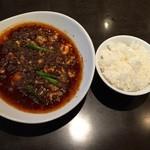 四川料理 シュン - 陳麻婆豆腐¥1340+ご飯¥260。