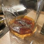 東京チャイニーズ 一凛 - 愛知の天然の才巻海老の紹興酒漬け、土鍋蒸し ナンプラーと白髪葱で1