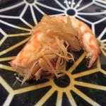 東京チャイニーズ 一凛 - 愛知の天然の才巻海老の紹興酒漬け、土鍋蒸し ナンプラーと白髪葱で7