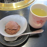 まんぷく 自由が丘店 - チョコレートアイスと柚子茶