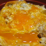 鎌倉 鶏味座 - 究極の親子丼卵黄崩し後