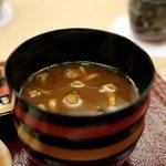 銀座 小十 - 味噌汁