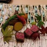 銀座 小十 - 土佐の赤牛の炭火焼