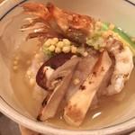わ食場 はす家 - 加賀れんこん蓮蒸し、松茸にガス海老入りの豪華版