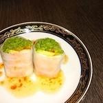 中国料理 桃翠 - アボガド入り生春巻き