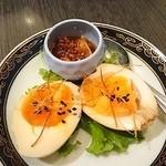 中国料理 桃翠 - 煮玉子食べるラー油添え