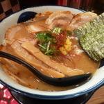 つるかめ - 魚介醤油らぁめん+炙りチャーシュートッピング