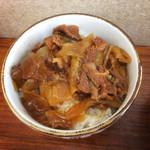 田上 - きつねセットの〝ミニ牛丼〟(2015.03)