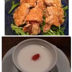小滝野 - 鶏の揚げ物、デザートの杏仁豆腐が濃厚