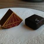 デルレイ カフェ&ショコラティエ - 左レッドダイアモンドダーク 右アルトエルソル