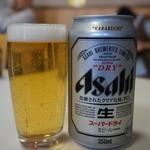 朝日屋 - 缶ビール(420円)