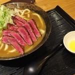 こと平 - ステーキカレーうどん1650円♪