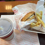 ドムドムハンバーガー - ナチュラルチーズセット(日替わりランチ)