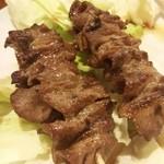 炭焼串庵 秀 - 牛たんはポン酢で