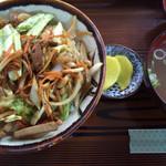 三角食堂 - 肉丼 今は食堂でも珍しくなりました。