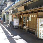 美山cafe - 視点:通り沿い南東向き(梅三小路ほぼ東端)