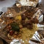 五エ門 - 牛タン塩焼&タコと貝柱のガーリック炒め