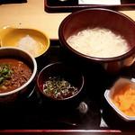 42677344 - 釜あげうどん+カレー丼(900円)
