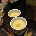 京都 瓢喜 - 白子茶碗蒸し