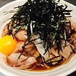 肉そば両国 - 冷やし肉玉そば・うどん ¥550