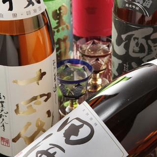 日本全国から厳選した銘酒を取り揃えております。