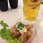 はま寿司 - ビールとチキン南蛮(夫は水)