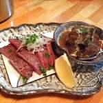 居酒屋料 - 料理写真:極上のたん 2品盛り1200円!