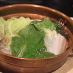 しゃぶ亭 - お野菜もたっぷり
