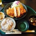 42695057 - 厚切りロースかつ定食1598円