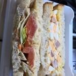 グルニエ ア パン - サンドイッチ(3個入り・・・1ケ食べちゃった後です)